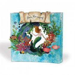 I-Crafter - Fustelle - Tunnel Card Insert Mermaid