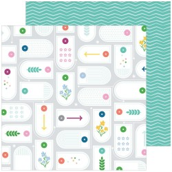 Pink Fresh Studio - Carte 12x12 -  Real Life