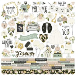 """Simple Stories - Stickers 12x12"""" - Happily Ever After"""