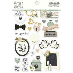 Simple Stories - Sticker Book - Happily Ever After