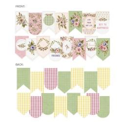 P13 - Paper die cut garland - Stitched with love