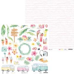 "P13 - Carta 12x12"" - Summer Vibes 07"