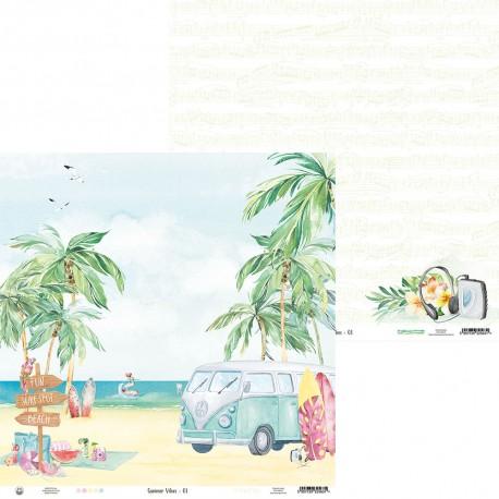 "P13 - Carta 12x12"" - Summer Vibes 01"