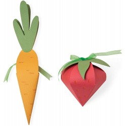 Sizzix - Fustella Bigz Plus - Box, Carrot & Strawberry