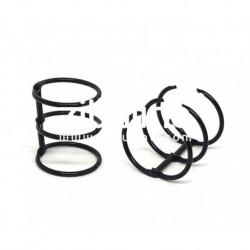 Zibuline - 3 anelli nero - 3 cm