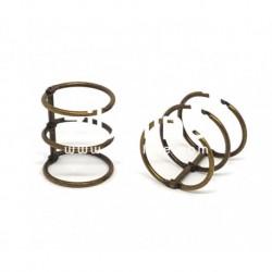 Zibuline - 3 anelli bronzo - 3 cm