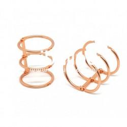 Zibuline - 3 anelli rame - 3 cm
