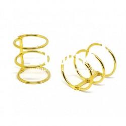 Zibuline - 3 anelli oro - 3 cm