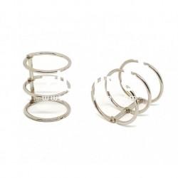 Zibuline - 3 anelli argento - 25 mm