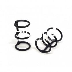 Zibuline - 3 anelli nero - 2 cm