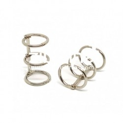 Zibuline -  3 anelli argento - 2 cm