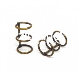 Zibuline - 3 anelli bronzo - 2 cm