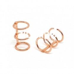 Zibuline - 3 anelli rame - 2 cm