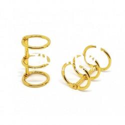 Zibuline - 3 anelli oro - 2 cm