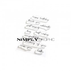Simply Graphic - Timbri Clear - English sentiments