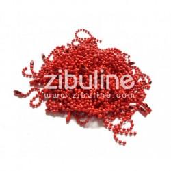 Zibuline - Abbellimenti - Catenella Rosso 10 cm