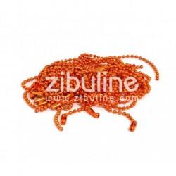 Zibuline - Abbellimenti - Catenella Arancio 10 cm