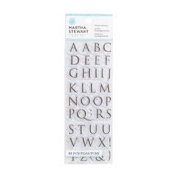 Timbri clear - Alfabeto Martha Stewart