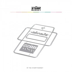 The Stamp Market - Fustella - 3X3 ENVELOPE