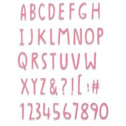 Sizzix - Fustella Thinlits - Hand Drawn Alphabet