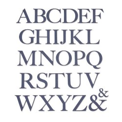Sizzix - Fustella Thinlits - Serif Alphabet