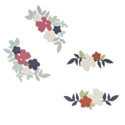 Sizzix - Fustella Thinlits - Wild Blossom Corners