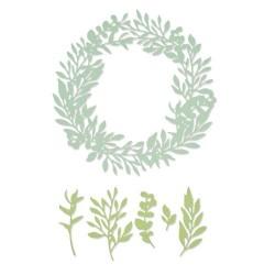 Sizzix - Fustella Thinlits - Wild Leaves Wreath