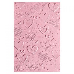 Sizzix - 3-D Textured Impressions Embossing Folder - Hearts