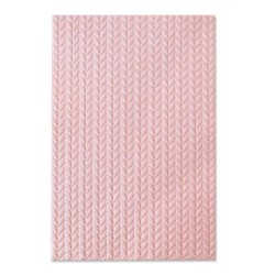 Sizzix - 3-D Textured Impressions Embossing Folder - Knitted