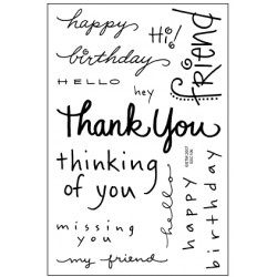 Timbri clear - Stampendous Happy Messages