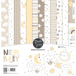 "MODASCRAP - KIT CARTE - NEW BABY 12X12"""