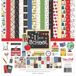 "Echo Park - Kit Carte 12x12"" - I Love School"