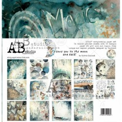 """AB STUDIO - Kit Carte 12x12"""" – I LOVE YOU TO THE MOON AND BACK"""