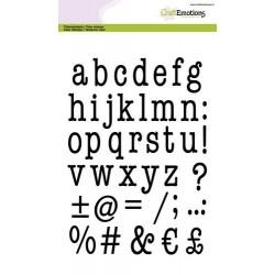 CraftEmotions - Fustella - Lowercase Alphabet Typewriter