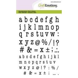 The Stamp Market - Timbri Clear - lowercase alphabet typewriter