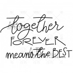 AB Studio - Timbri Cling - Together Forever Means the Best
