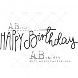 AB Studio - Timbri Cling - Happy Birthday