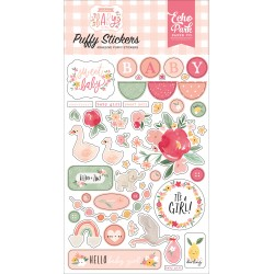 Echo Park - Puffy Stickers - Welcome Baby Girl