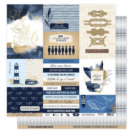 Florilèges Design - Carte Vue sur Mer - N.8
