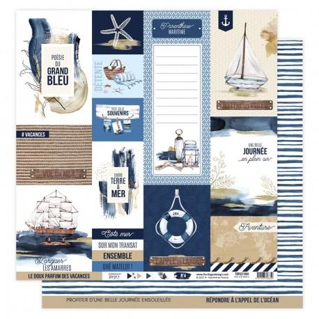 Florilèges Design - Carte Vue sur Mer - N.4