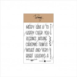 Tommy Art - Timbri Clear - Mini Christmas Words