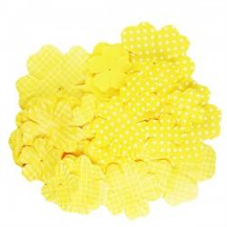 Fiori stampati kesi'art giallo