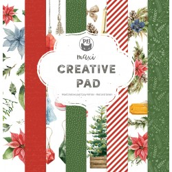 """P13 - Pad Cosy Winter Red and Green - 12x12"""""""