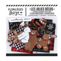 Florileges Design - Abbellimenti Acrilici - CHRISTMAS COCOONING