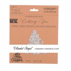 Vaessen Creative - Fustella - Wish you a Merry Christmas