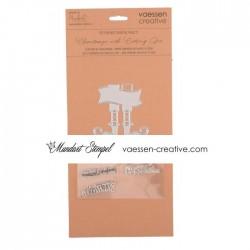 Vaessen Creative - Combo Fustella e Timbri - Elf shoes English
