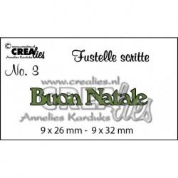 Crealies - Fustella - Buon Natale