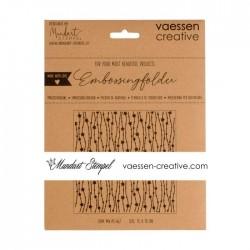 Vaessen Creative - Embossing folder -star pendulum