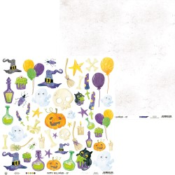 "P13 - Carte 12x12"" - Happy Halloween - 07"