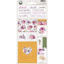 P13 - Chipboard sticker sheet - Time to Relax 01